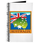 Australia Map with Waving Fla Journal