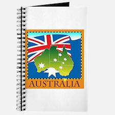 Australia Map with Waving Fla Journal