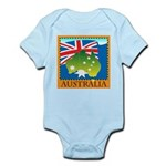 Australia Map with Waving Fla Infant Bodysuit