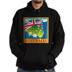 Australia Map with Waving Fla Hoodie (dark)