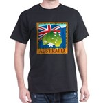 Australia Map with Waving Fla Dark T-Shirt