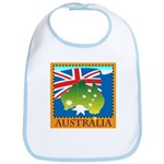 Australia Map with Waving Fla Bib