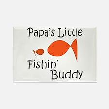 Papa's Little Fishing Buddy Rectangle Magnet