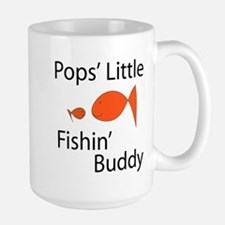 Pops' Little Fishin' Buddy Large Mug