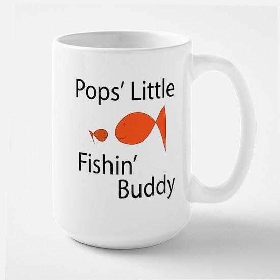 Pops' Little Fishin' Buddy Large Mug