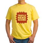 Triple Nerd Score Yellow T-Shirt