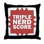 Triple Nerd Score Throw Pillow