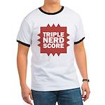 Triple Nerd Score Ringer T