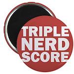 Triple Nerd Score Magnet