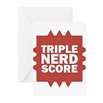 Triple Nerd Score Greeting Cards (Pk of 10)