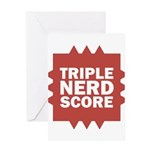 Triple Nerd Score Greeting Card