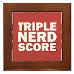 Triple Nerd Score Framed Tile