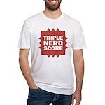 Triple Nerd Score Fitted T-Shirt