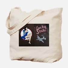 Lucky Strike Nose Art Tote Bag