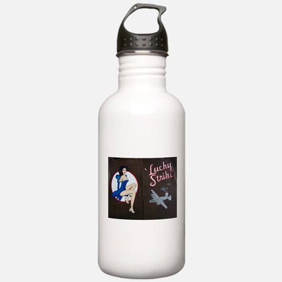 Lucky Strike Nose Art Water Bottle