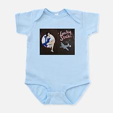 Lucky Strike Nose Art Infant Bodysuit