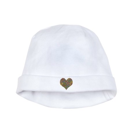 Cool Peace Sign Heart baby hat