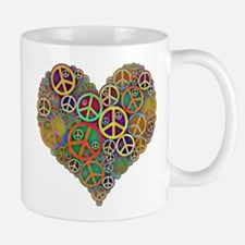 Cool Peace Sign Heart Mug