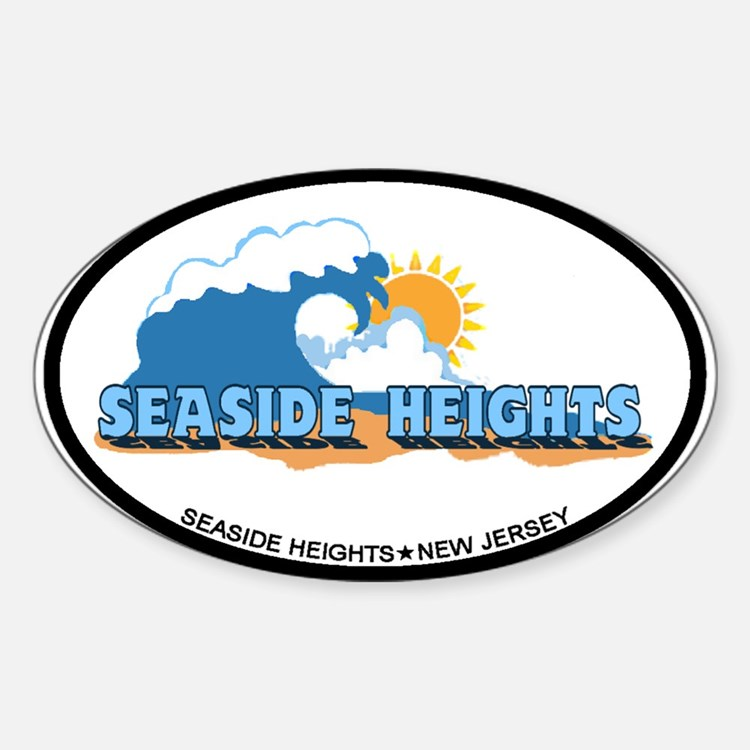 Seaside Heights NJ - Waves Design. Decal