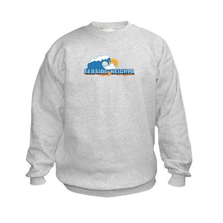 Seaside Heights NJ - Waves Design. Kids Sweatshirt