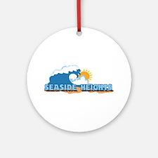Seaside Heights NJ - Waves Design. Ornament (Round