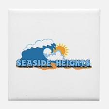 Seaside Heights NJ - Waves Design. Tile Coaster