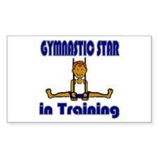 Gymnastic Star in Training Daniel Sticker (Rectang