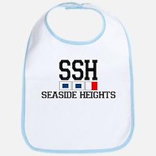 Seaside Heights NJ - Nautical Flags Design. Bib