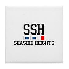 Seaside Heights NJ - Nautical Flags Design. Tile C