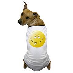 Smoker Smiley Face Dog T-Shirt