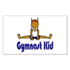 Gymnast Kid Daniel Rectangle Sticker