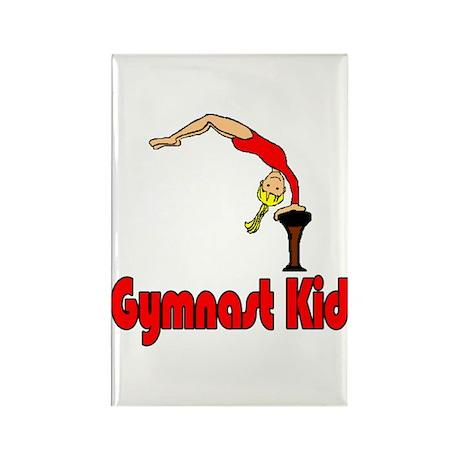 Gymnast Kid Abigail Rectangle Magnet