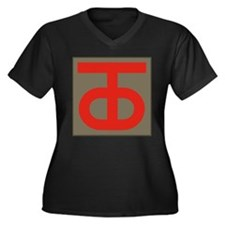 Cute 90's Women's Plus Size V-Neck Dark T-Shirt