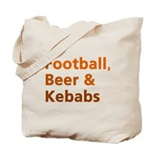 'Football, Beer & Kebabs' Tote Bag