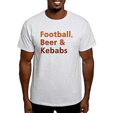 'Football, Beer & Kebabs' T-Shirt
