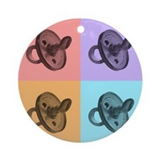 Artsy Pacifiers Ornament (Round)