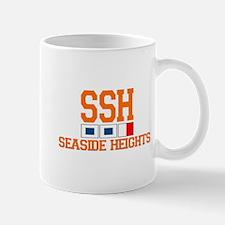 Seaside Heights NJ - Nautical Flags Design. Mug
