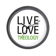 Live Love Theology Wall Clock