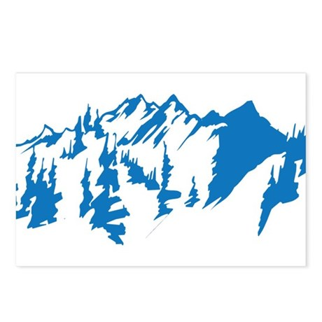 Snow Mountains Postcards (Package of 8)