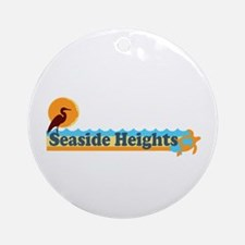 Seaside Heights NJ - Beach Design Ornament (Round)