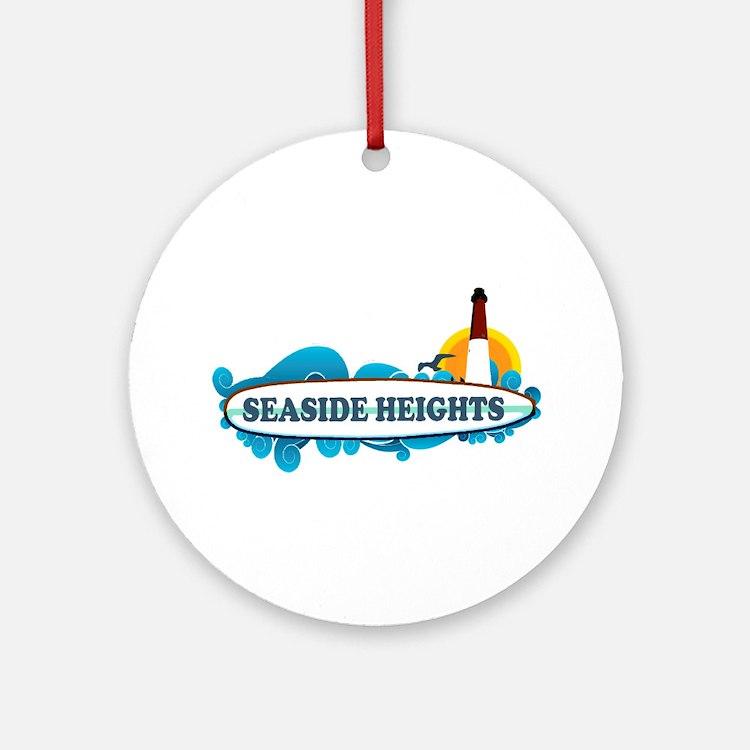Seaside Heights NJ - Surf Design Ornament (Round)