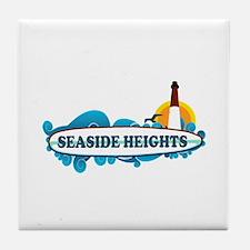 Seaside Heights NJ - Surf Design Tile Coaster