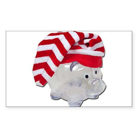 Santa Helper Fund Sticker (Rectangle)