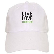 Live Love Lobsters Baseball Cap