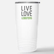 Live Love Lobsters Stainless Steel Travel Mug