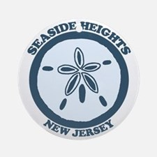 Seaside Heights NJ - Sand Dollar Design Ornament (