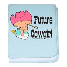Future Cowgirl baby blanket