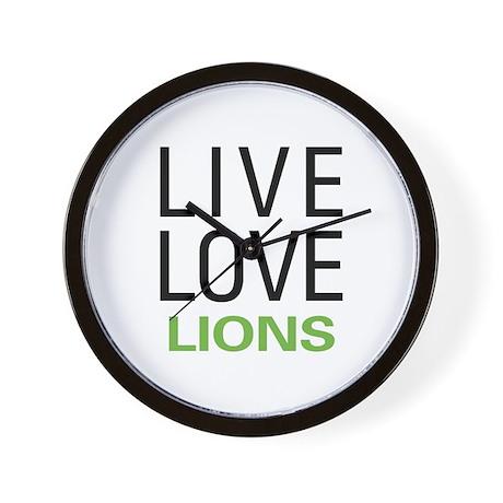 Live Love Lions Wall Clock