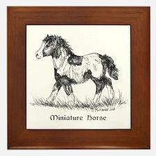 Miniature Horse Foal Framed Tile
