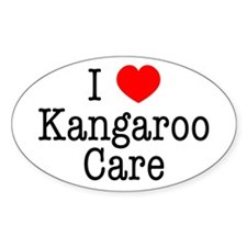 I Love Kangaroo Care Decal